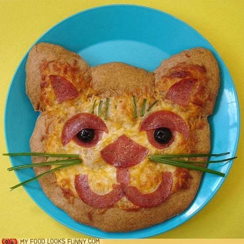 cat cheese face kitty lunch mellow pepperoni pizza snack - 4822899968