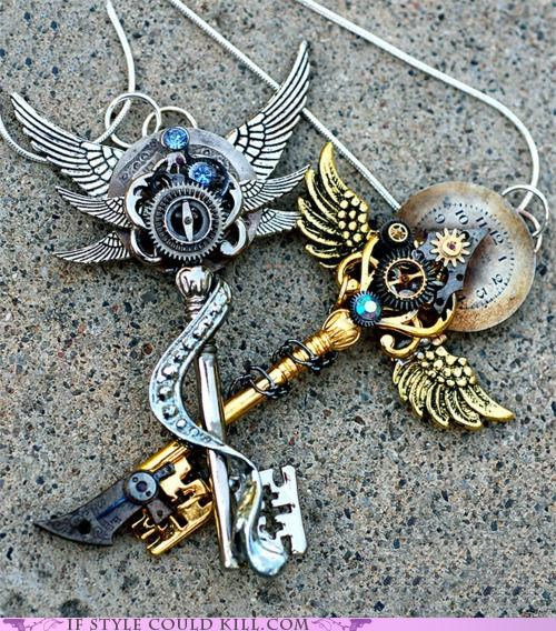 cool accessories,keys,necklaces,Steampunk