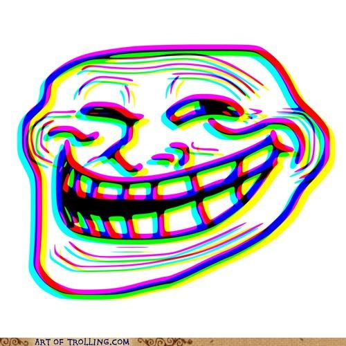 3d ow colors troll face - 4822915840
