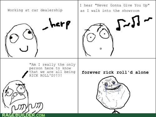 internet Memes Rage Comics real life rick roll - 4822960128