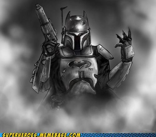amazing Awesome Art batman boba fett Random Heroics star wars - 4823010048