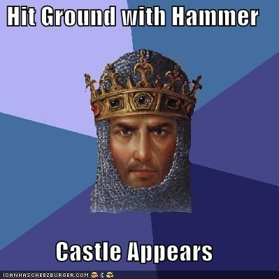 age of empires castle hammer Memes video games - 4823018496