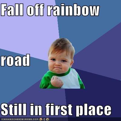 first kart mario Memes rainbow road success kid video games - 4823600128