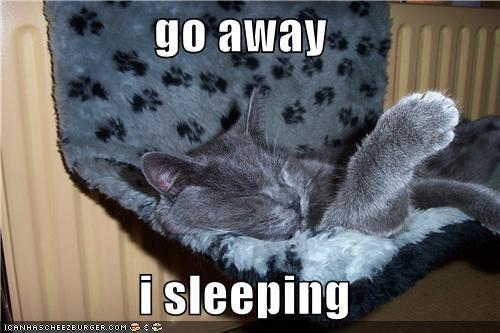 go away   i sleeping