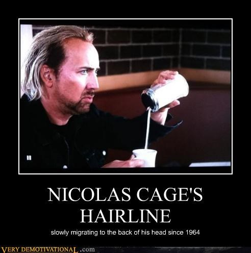 hilarious,nicholas cage,receding hairline,wtf