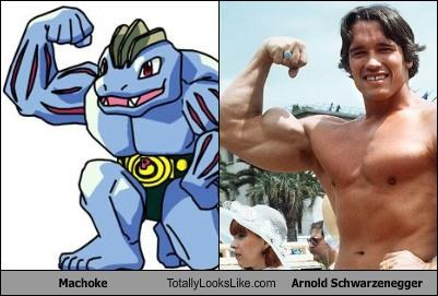 Arnold Schwarzenegger machoke muscles Pokémon - 4823794688