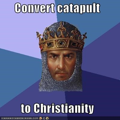 age of empires catapult christianity cross Memes sins video games - 4823798784