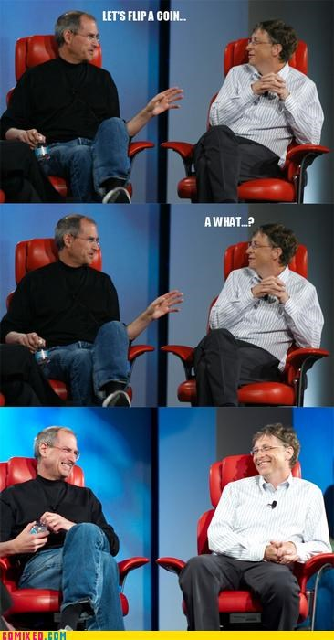 apple,Bill Gates,celebutard,computer,PC,steve jobs,windows