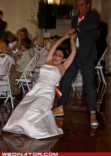 dance FAIL funny wedding photos