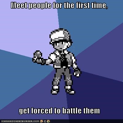 ash Battle blue people Pokémemes Pokémon - 4824487424