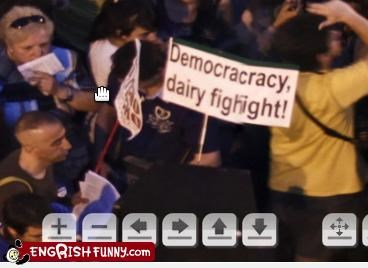 dairy Protest sign