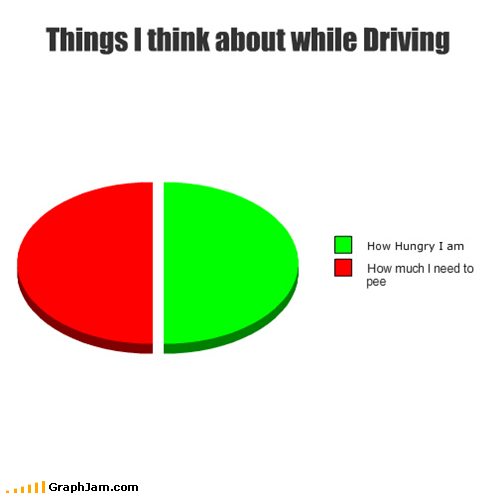 driving,hungry,pee,Pie Chart