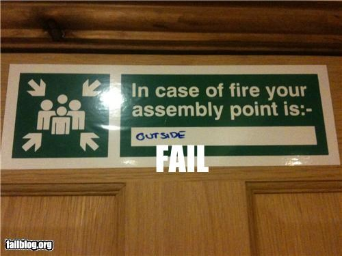 bathroom failboat fire code fire safety g rated Professional At Work signs - 4825026816