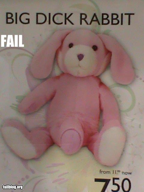 bad product failboat innuendo p33n rabbit toy - 4825162496
