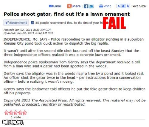 Police fail News article