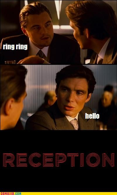 From the Movies,Inception,leonardo dicaprio,reception,telephone