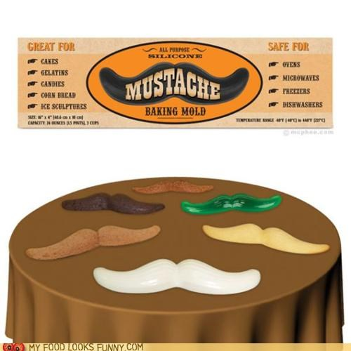 baking cake chocolate edible Jello mold mustache possibilities