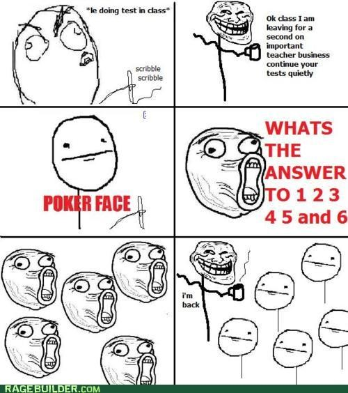 cheating,Rage Comics,school,teacher