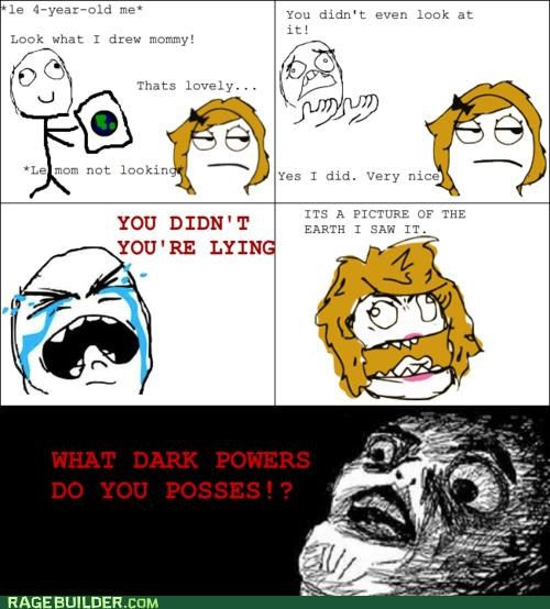 art,dark powers,mom,Rage Comics