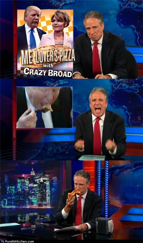 donald trump,jon stewart,political pictures