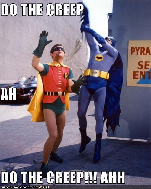 Adam West batman burt ward Random Heroics robin the creep - 4826080256