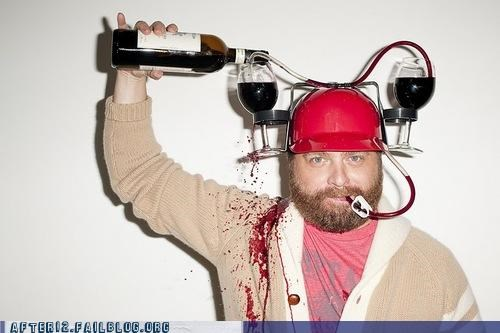 hat wine Zach Galifianakis