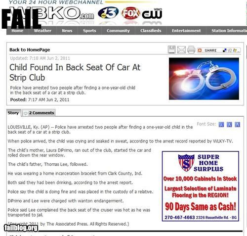 failboat,g rated,kids,news,Parenting Fail,Probably bad News,strip club