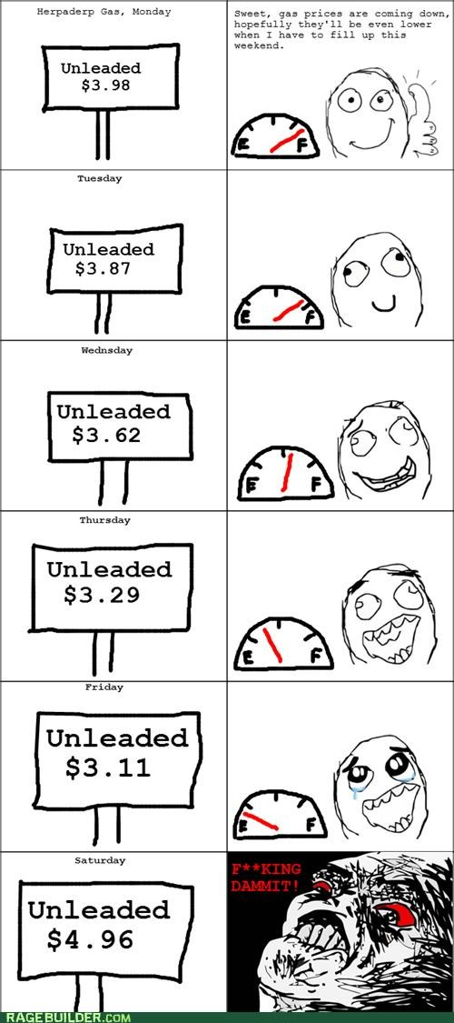 cost gas moneys prices Rage Comics - 4826243328