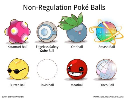 comics dueling analogs non-regulation pokeballs Pokeballs Pokémon video games webcomics - 4826465792