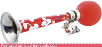 accessory bicycle bike flowers honk horn