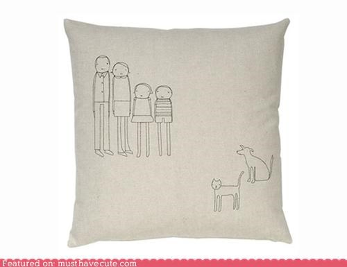decor embroidered family home kids parents pets Pillow - 4826583808