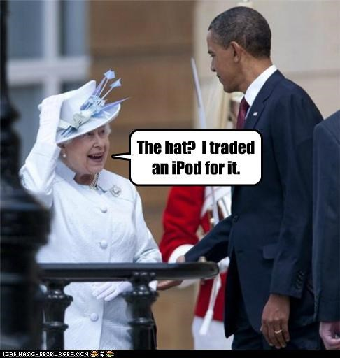 barack obama,political pictures,Queen Elizabeth II