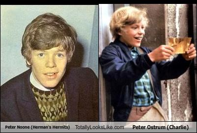 Peter Noone (Herman's Hermits) Totally Looks Like Peter Ostrum (Charlie)