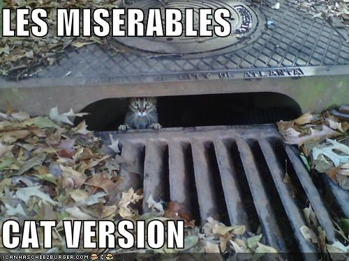 caption captioned cat Les Misérables musical novel version victor hugo
