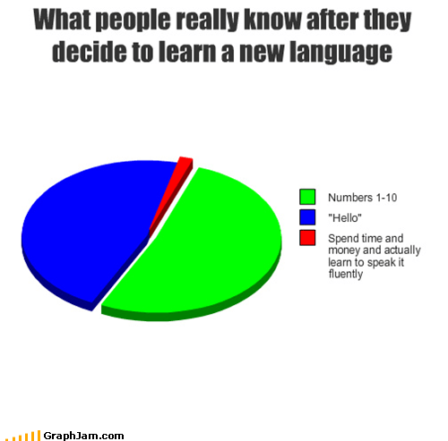 fluency,language,learning,Pie Chart