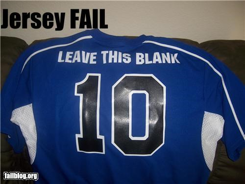 failboat g rated jersey name fail Professional At Work spelling sports stupidity - 4827726592