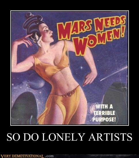 artists,hilarious,Mars,need,women