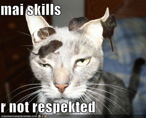 cat critters mouse skills unamused - 4828352512