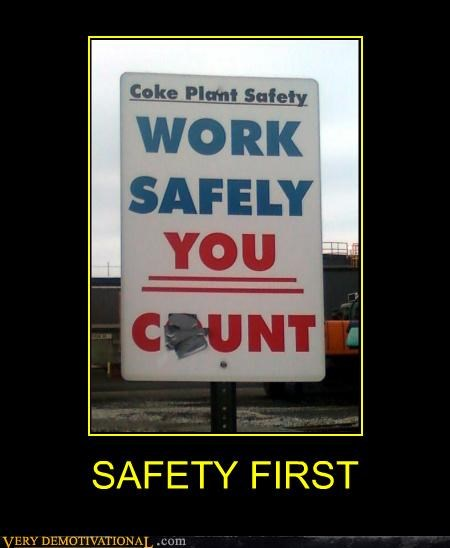 hilarious lady bits safety first sign - 4828602624