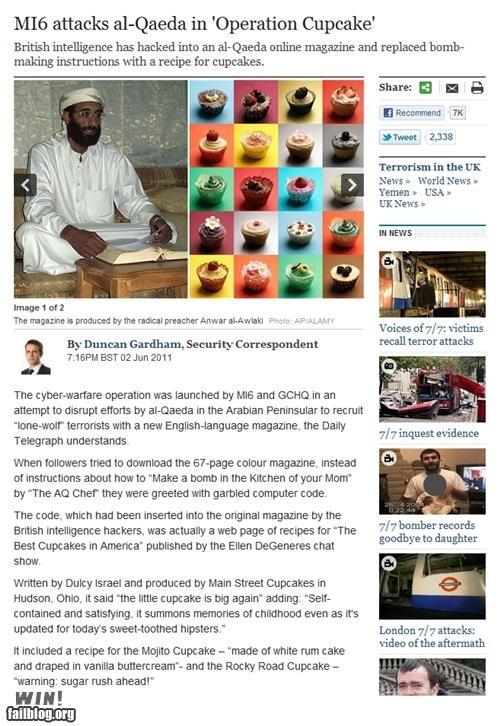 al qaeda,completely relevant news,cupcake,england,MI6,spy,terrorism