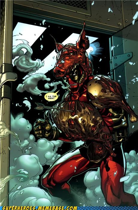 deadpool marvel meat Random Heroics Straight off the Page wtf - 4828788992