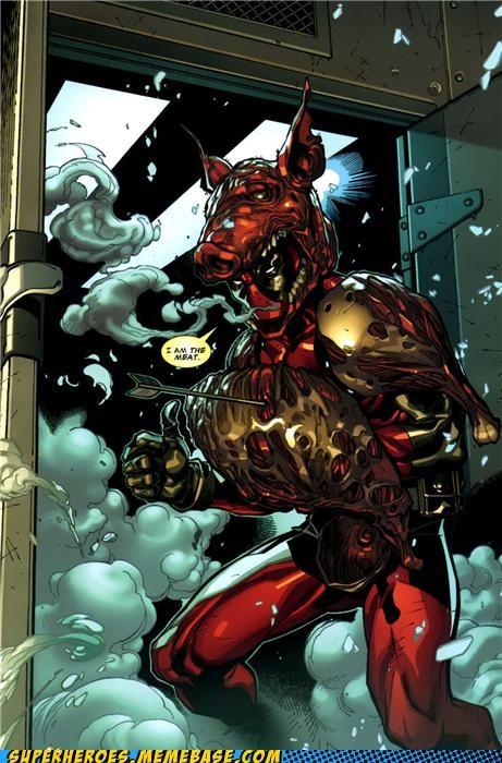 deadpool,marvel,meat,Random Heroics,Straight off the Page,wtf