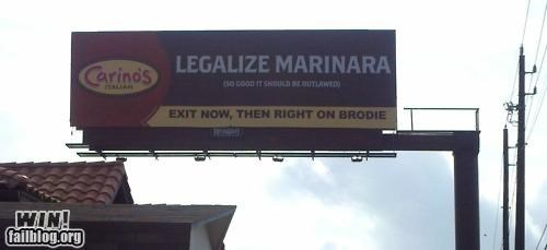 billboard clever food legal marinara sauce - 4829016832