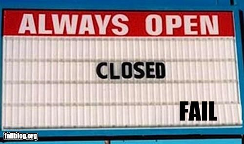 classic failboat g rated open Professional At Work signs - 4829088000