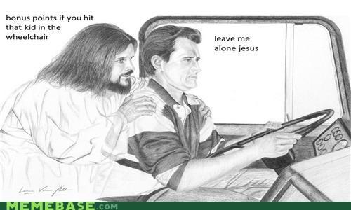 bonus bump LOL Jesus speed wheelchair - 4829161472