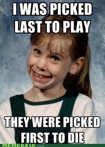 Death die dodgeball kids Memes playground assassin school