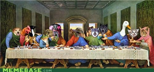 bible last supper Memes raptor jesus - 4829239040