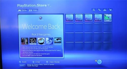 free games playstation network ps3 PSP Sony Tech video games welcome back - 4829264896