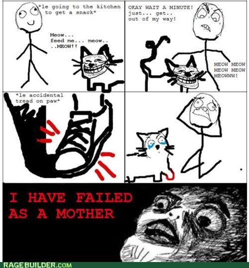 cat hurt pets Rage Comics - 4829293568