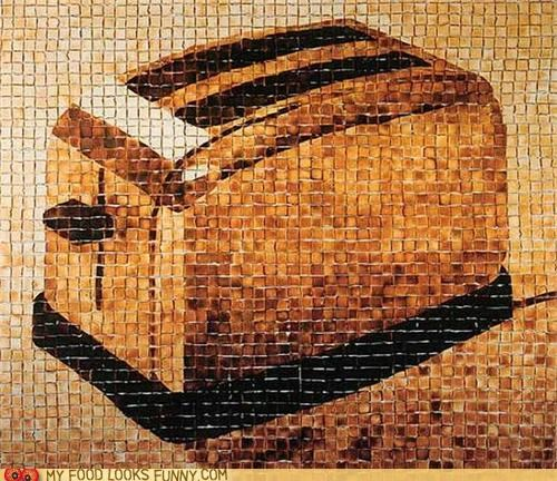 art,bread,toast,toaster